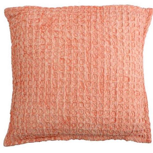 Cushion corton peach 45x45 cm