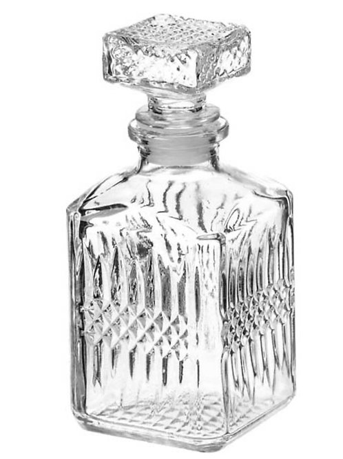 Glass bottle 6x14cm 250ml