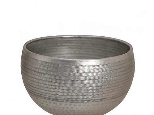 Artistic aluminium planter silver 26x26x15cm