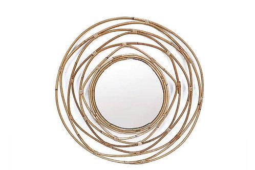 Bamboo wall mirror 60cm