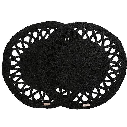 Dawei - Placemats Black set of 2