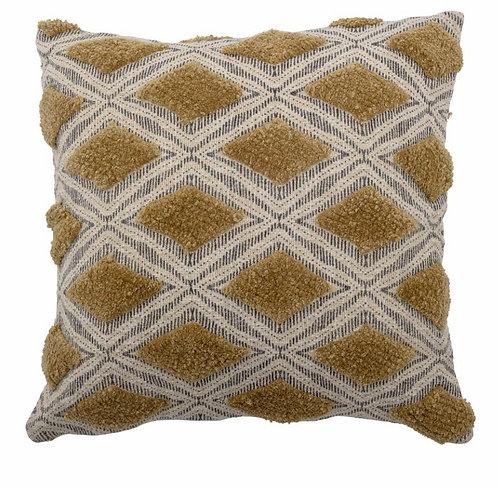 Deon Cushion, Green, Cotton