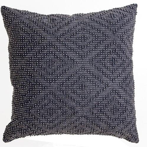Μαξιλάρι γεωμετρικό ζακάρ, σκ.γκρι,45x45cm