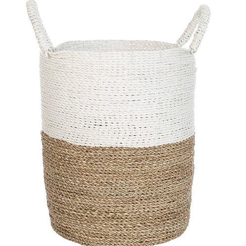 Bandung - Storage Basket White / Natural small