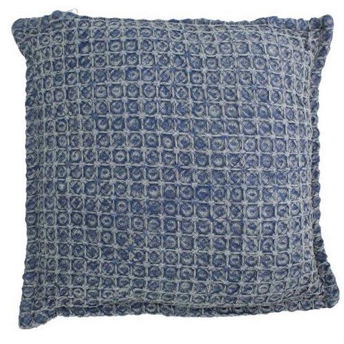 Cushion cotton blue 45 x 45 cm