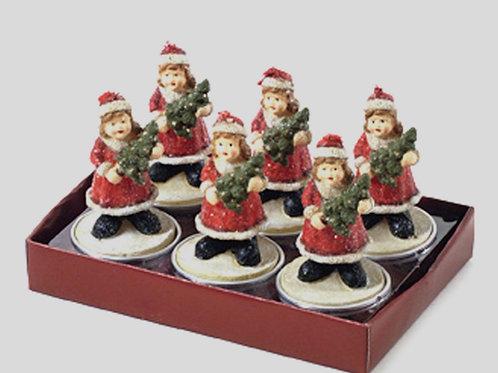 Χριστουγεννιατικο κερι ρεσο κοριτσακι σετ6