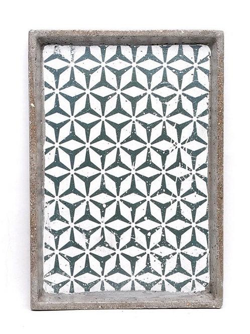 Tray cement retro mediterranean grey design 32cm