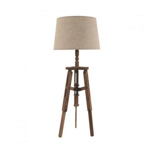 WOODEN TABLE LAMP BROWN/BEIGE D30X76