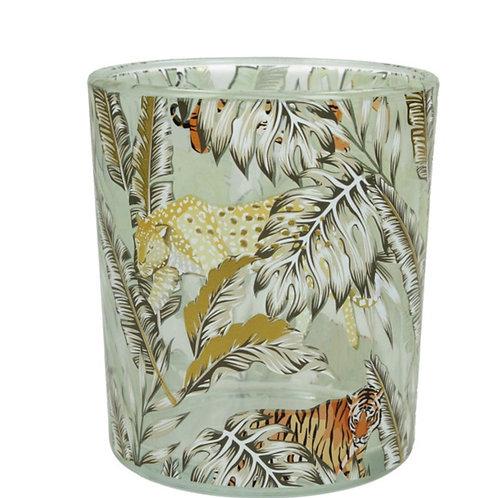 Tealight holder jungle glass
