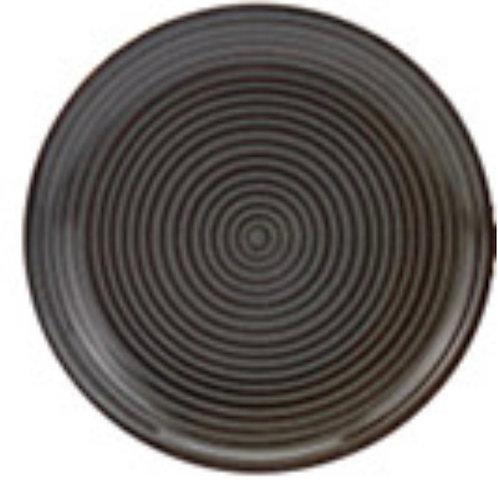 Plate stoneware 20cm reactive glass, rib design