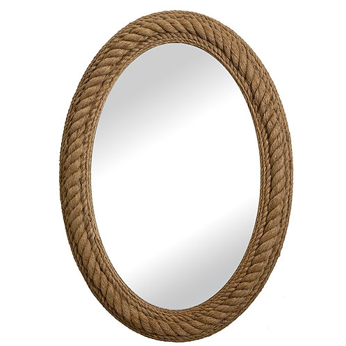 Oval nautical natural mirror 76x100cm