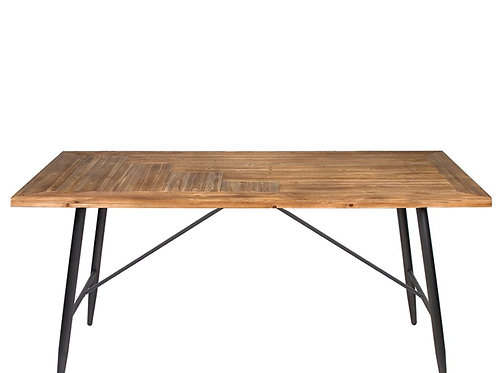 Dinning table wood top&iron legs