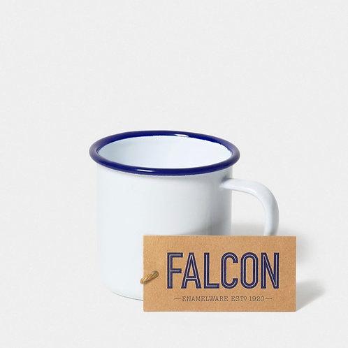 Falcon mug. White with Blue rim