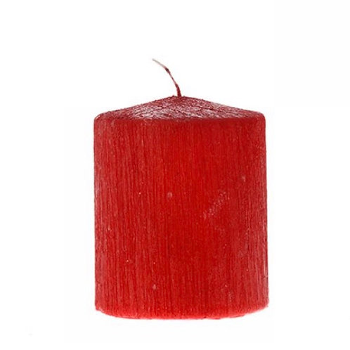 Single color pillar candle red 6X8cm