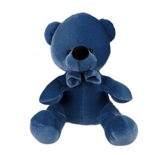 Velvet teddy bear petrol 20cm