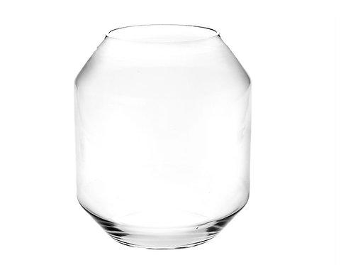 Clear glass vase D16X29 cm