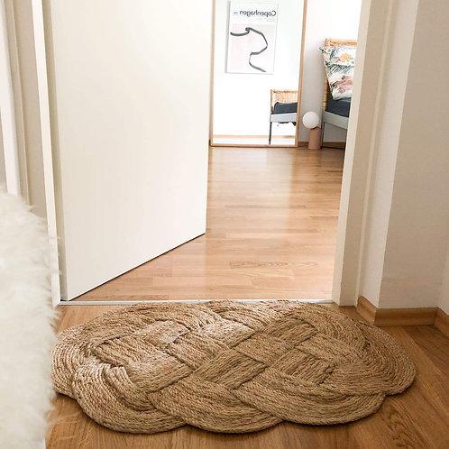 Shanxi. Beautiful braided doormat. Yoshiko