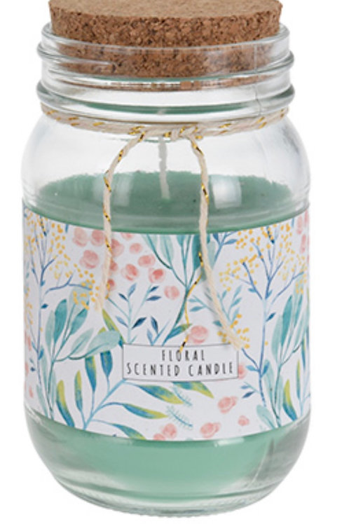Floral scented candle  mint