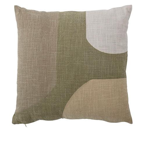 Kuni Cushion, Green, Cotton