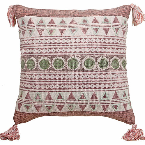 Cotton cushion with tassels,50X50cm