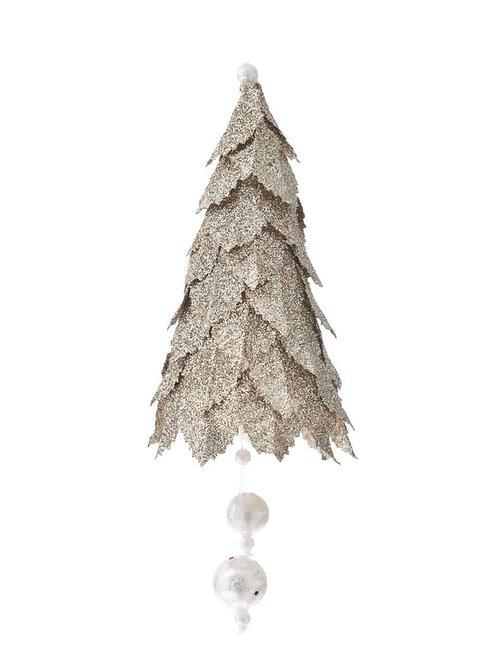 Xmas gold hanging tree 19cm