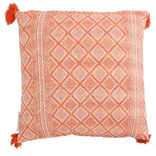 Cushion cotton coral 45x45 cm