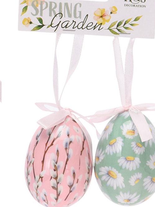 Easter - Spring floral egg decoration s/2