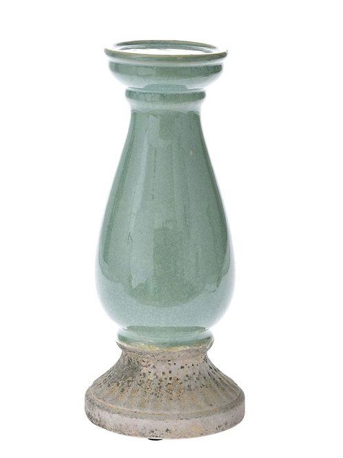 Ceramic candle holder mint 35cm