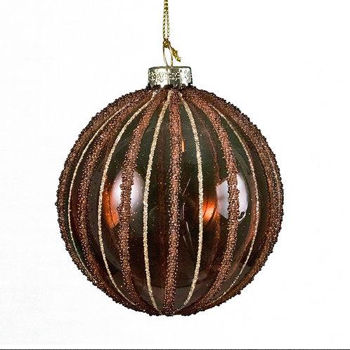 Xmas brown ball 8cm