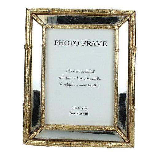 Photo frame polyresin gold  13X18cm