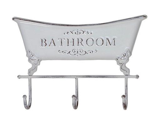 Vintage bathroom hanger white 35,5 x 23,5 cm