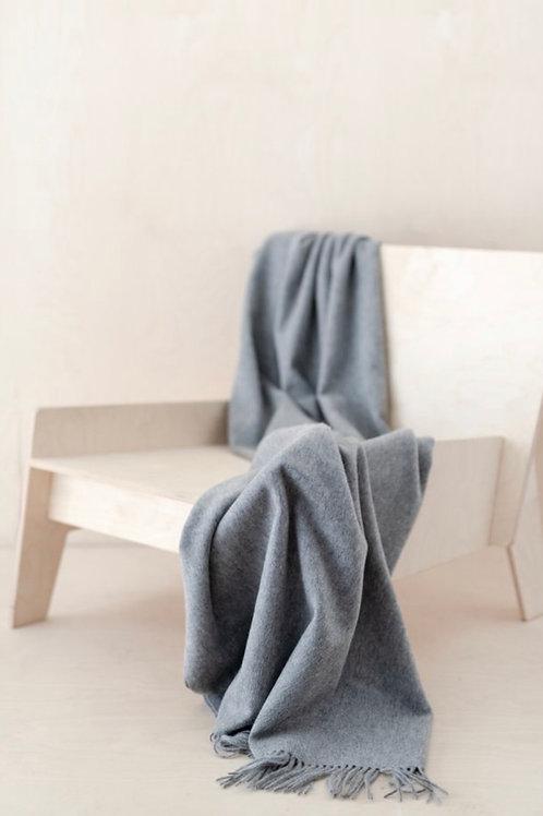 Lambswool Knee Blanket in Grey Melange
