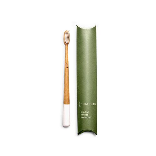 The Truthbrush (Cloud White) - Medium Plant Based Bristles