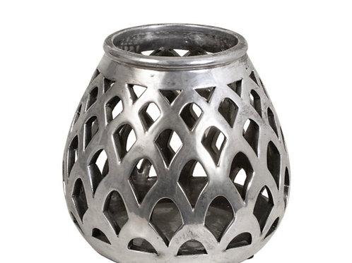 Ceramic silver lantern