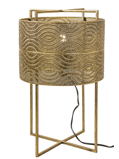 """Table lamp """"tower"""" gold  31X50cm"""