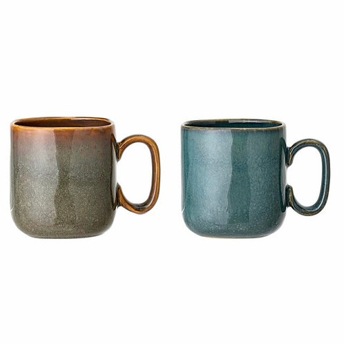Aime Mug, Green, Stoneware