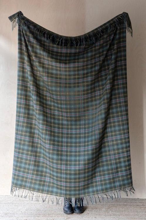 Lambswool Blanket in Mackenzie Weathered Tartan