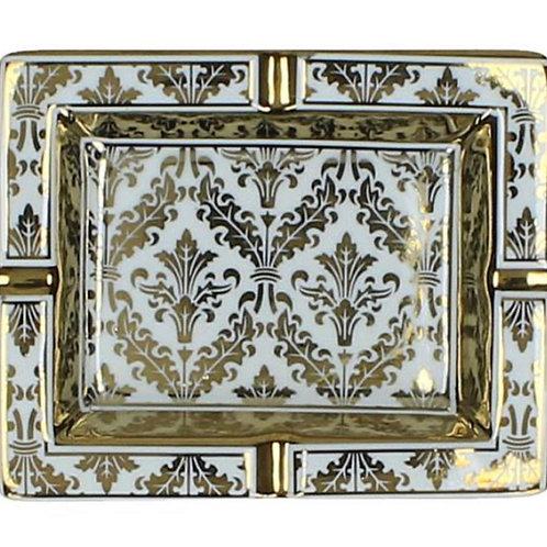 Gold ceramic ashtray