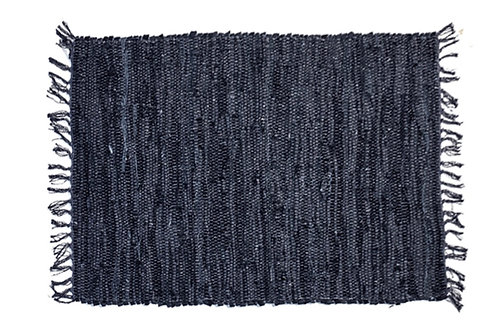 Rug carpet leather 60X90cm black