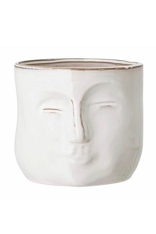 Ignacia Flowerpot, White, Stoneware