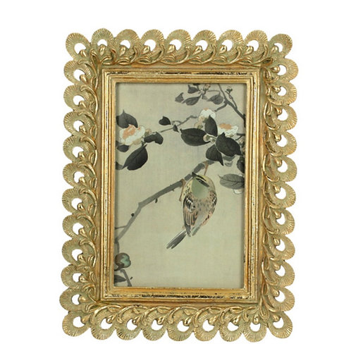 Photo frame polyresin gold 10X15cm