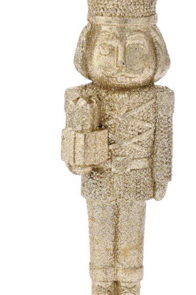 Xmas gold nutcracker 5X5X18 polyresin