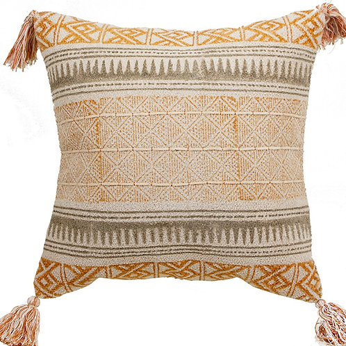 Cotton cushion with tassels 45X45cm
