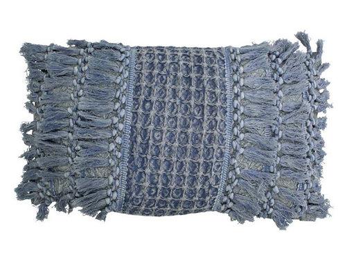 CUSHION COTTON BLUE 30X50CM