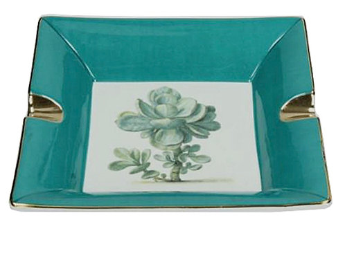 Ashtray ceramic 17.5X17.5X3.5cm