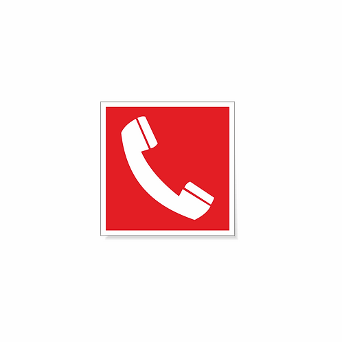 Табличка F05 Телефон 100х100 мм