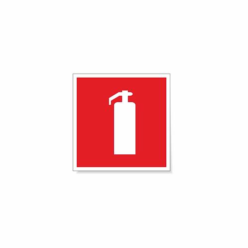 Табличка F04 Огнетушитель 150х150 мм