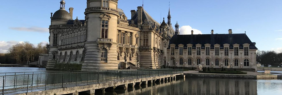 Picardie: Chantilly, Pierrefonds (tour P1)