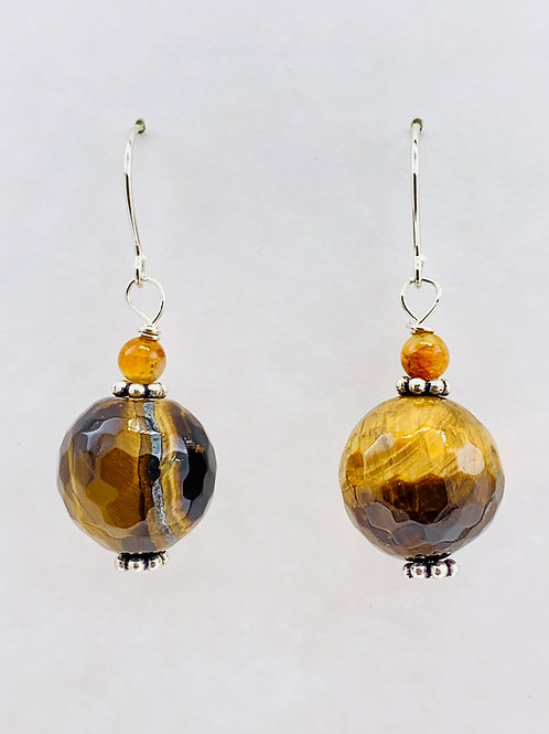 Faceted Tiger Eye on Sterling Silver