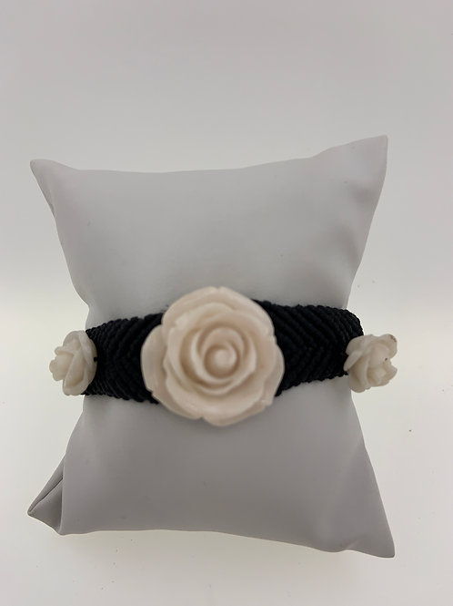 Resin Rose on Macrame